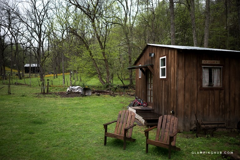 riverside camping cabin rental on a working farm in summersville west virginia West Virginia Camping Cabins