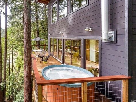 russian river cabin with mid century modern design mid Russian River Cabins