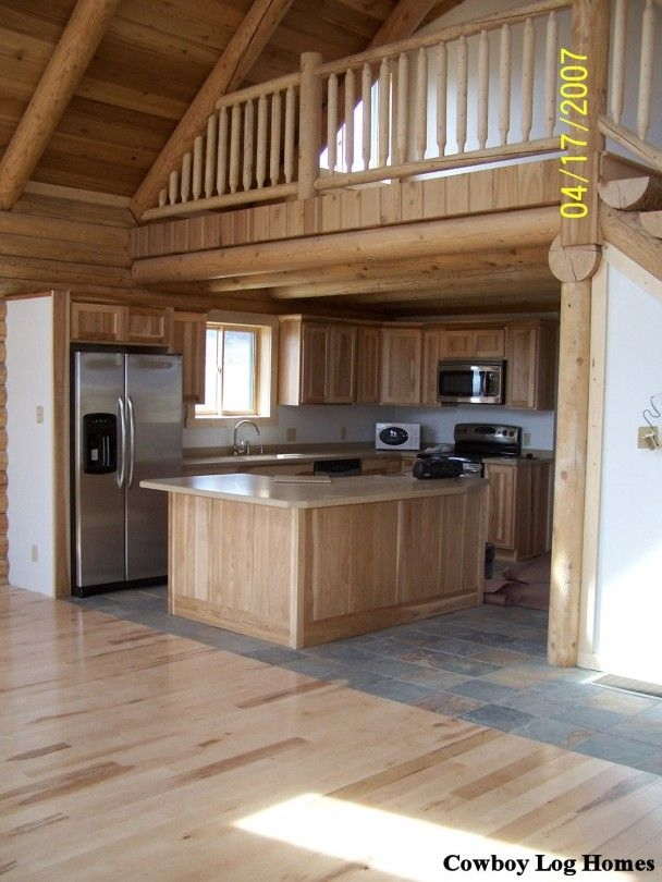 small cabin homes with lofts log cabin loft and kitchen Small Cabins With Loft