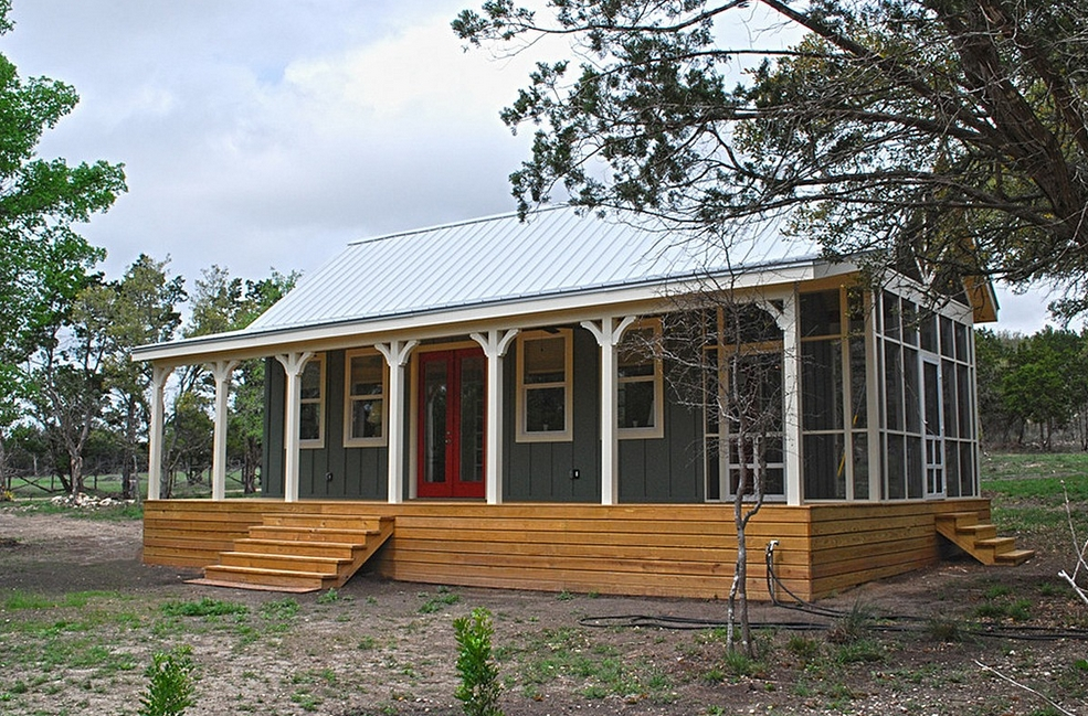 small cabin kits texas good porch in small cottage house Build Cabin Gallery