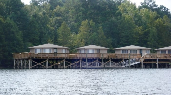 spend the night over the water in a pier cabin at santee Santee Cooper Lake Cabins