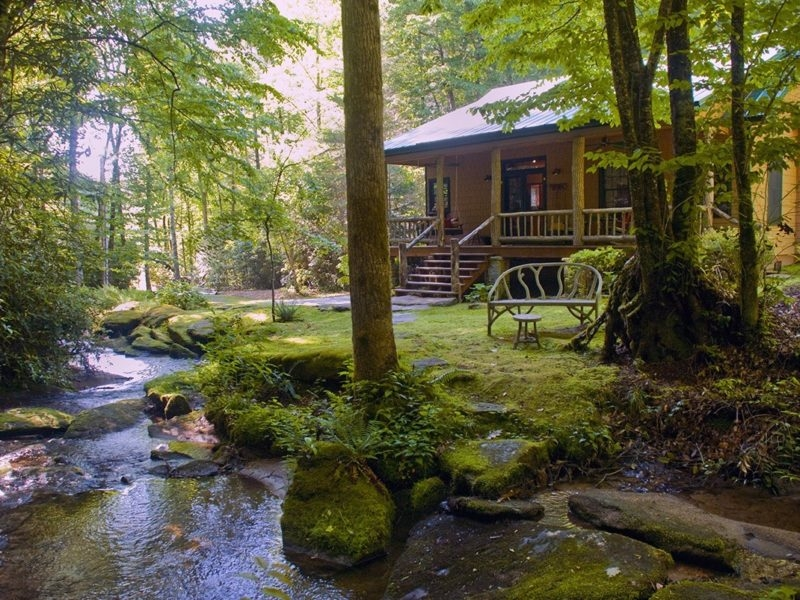trout house falls luxury waterfront vacation rentals blue Cabins In Brevard Nc