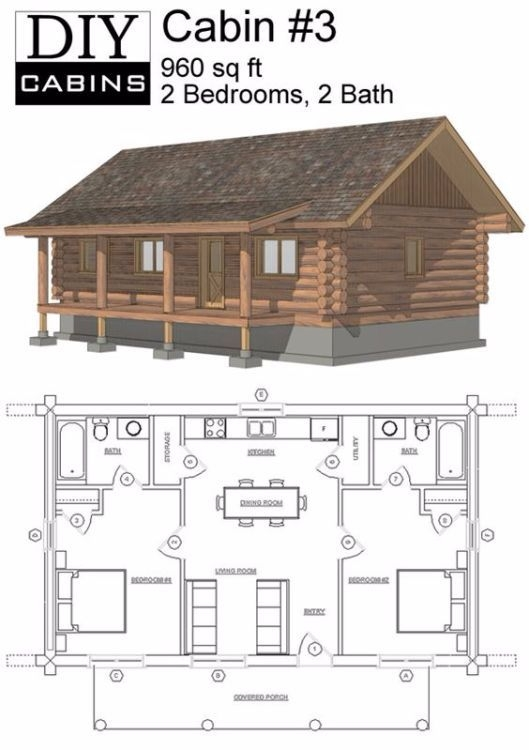 because of their rustic look and generally straightforward Bedroom Log Cabin Plans