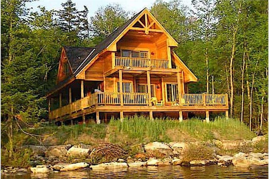 cabins vacation homes plan 160 1015 Bedroom Log Cabin Plans