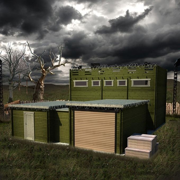 dead mansion walking this zombie proof cabin aims to keep Log Cabin Zombie Apocalypse