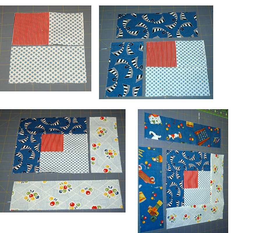 easy log cabin quilt block pattern Log Cabin Quilt Tutorial