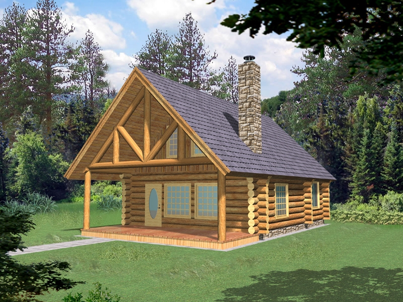 frisco pass log cabin home plan 088d 0355 house plans and more Bedroom Log Cabin Plans
