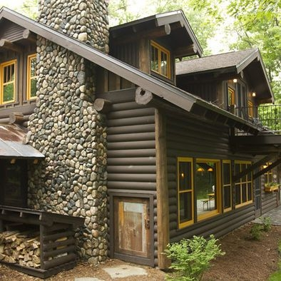 gray for my log cabin on the lake log cabin exterior Log Cabin Exterior Paint Colors