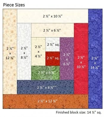 how to construct a log cabin quilt block Log Cabin Block Pattern