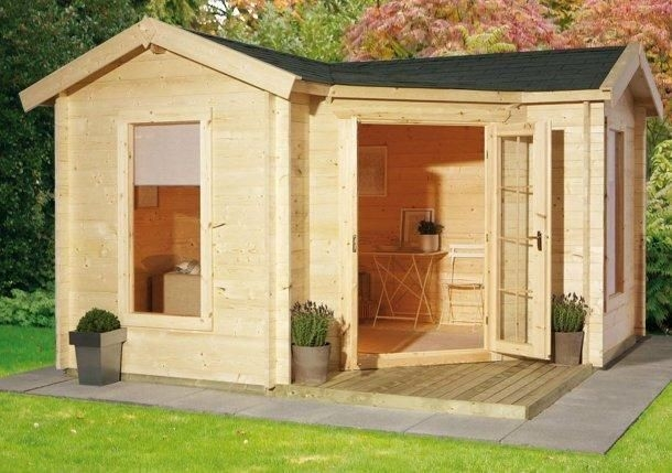l shaped summer house google search small shed plans L Shaped Garden Log Cabin