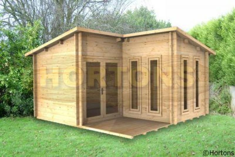 log cabin 4x4 alton l shaped cabin 28mm logs available L Shaped Garden Log Cabin