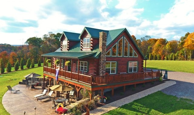 prefab log cabins modular homes for sale from pa Log Cabin Style Mobile Homes