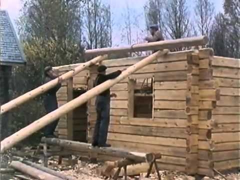 traditional finnish log house building process Building A Log Cabin By Hand