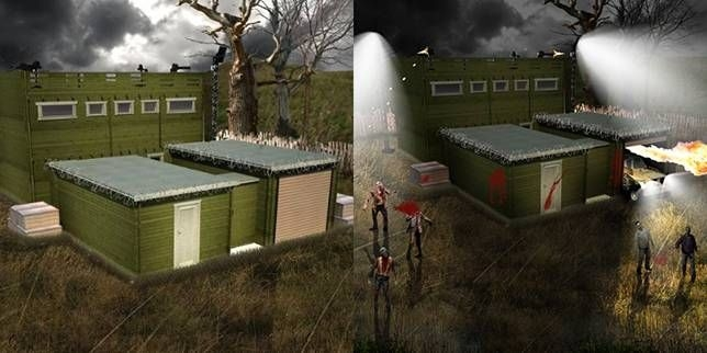 your zombie proof log cabin has arrived garden log cabins Log Cabin Zombie Apocalypse