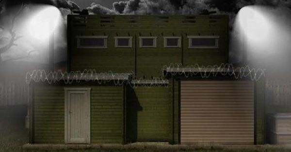 zombie proof cabin comes with security cameras solar panels Log Cabin Zombie Apocalypse
