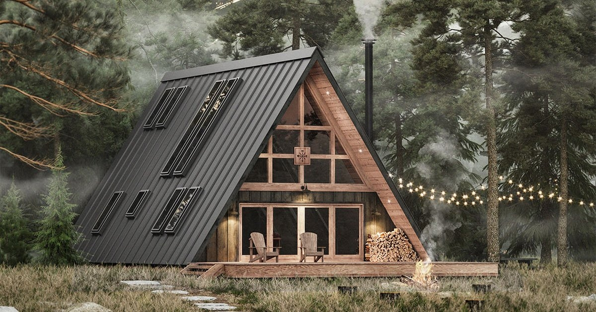 ayfraym is an affordable a frame cabin in a box concept Best A Frame Cabin