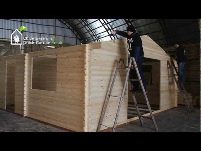 how to build a log cabin assembly instructions youtube B&Q Marlborough Log Cabin