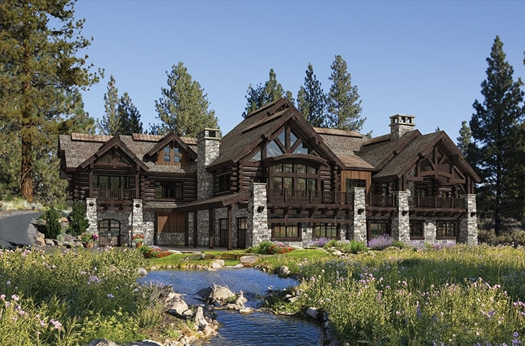 precisioncraft luxury timber and log homes Luxury Log Cabin Home