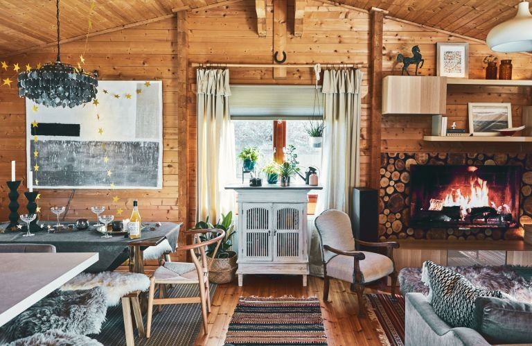 real home a new build log cabin with serious hygge factor B&Q Marlborough Log Cabin