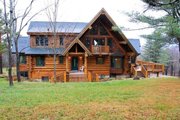 this gorgeous log home in upstate new york is for sale log Log Cabin Upstate New York