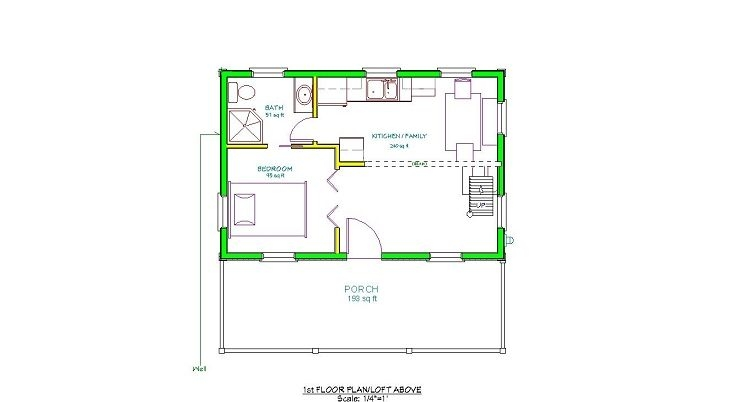 adirondack cabin plans 16x24 with cozy loft and front 16x24 Cabin Layout