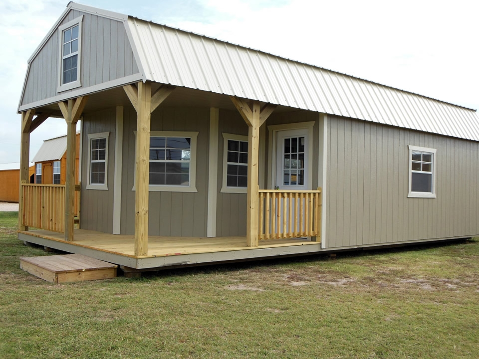 deluxe lofted cabin avery building barns mini barns Lofted Deluxe Barn Cabin Building