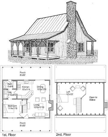 fish camp cabin is a small cabin floor program with a loft Small Camp Plans