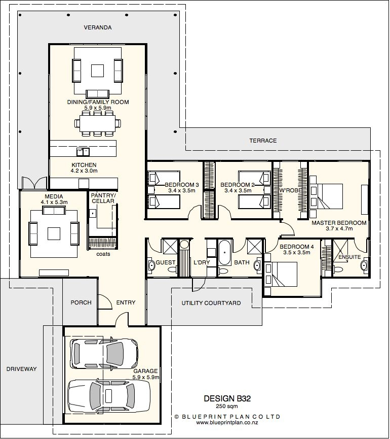 house plan design details home design plans l shaped L Shaped House Floor Plan Gallery