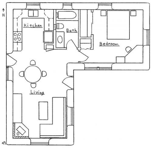 l shaped house plan L Shaped House Floor Plan Gallery