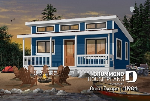 simple vacation house plans small cabin plans lake or mountain Small Camp Plans