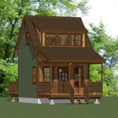Awesome 14x14 house 14x14h3a 343 sq ft excellent floor 14x14 Cabin With Loft Choices