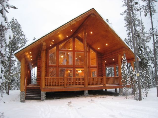 Cool beautiful modern cabin in the snow cabin style homes 10 Prefabricated Cabins Gallery