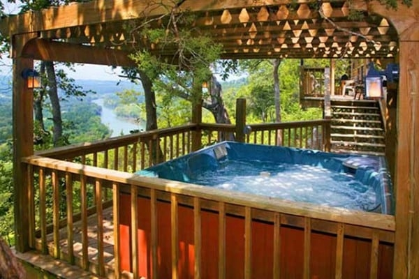 Cozy book the trapper eureka springs arkansas all cabins Eureka Springs Cabins With Hot Tubs