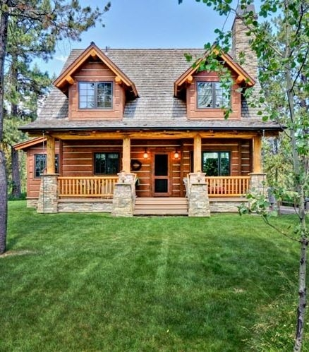 house plan 43212 log style with 1362 sq ft 2 bedrooms 10 2 Bedroom Log Cabin With Loft Ideas