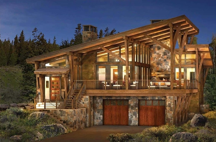 Interesting modern log and timber frame homes and plans precisioncraft Minimalist Modern Cabin Floor Plans Ideas