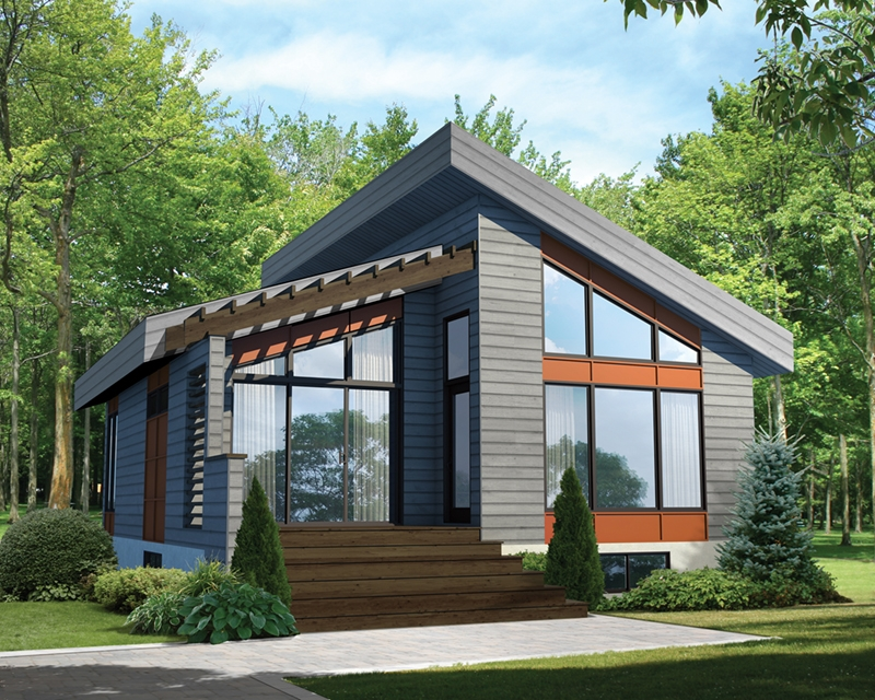 New mohican rustic modern cabin plan 126d 1012 house plans and Minimalist Modern Cabin Floor Plans Ideas