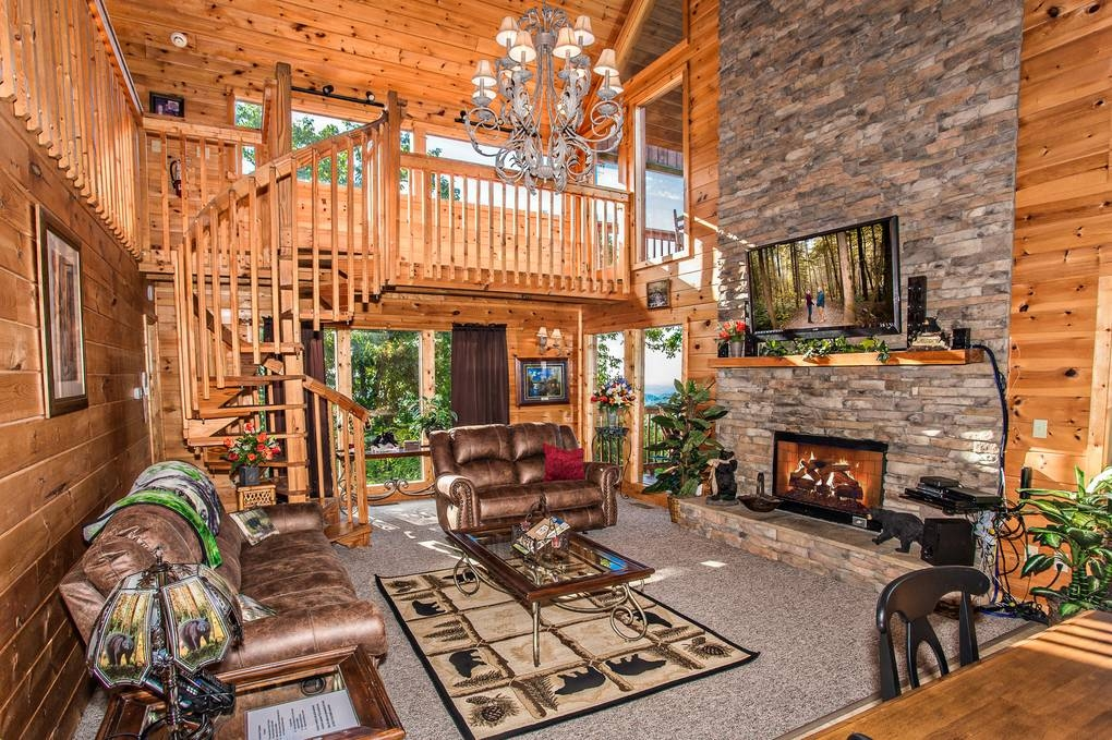 Stylish lifes a bear 2 bedroom cabin rental Timber Tops Cabin Ideas