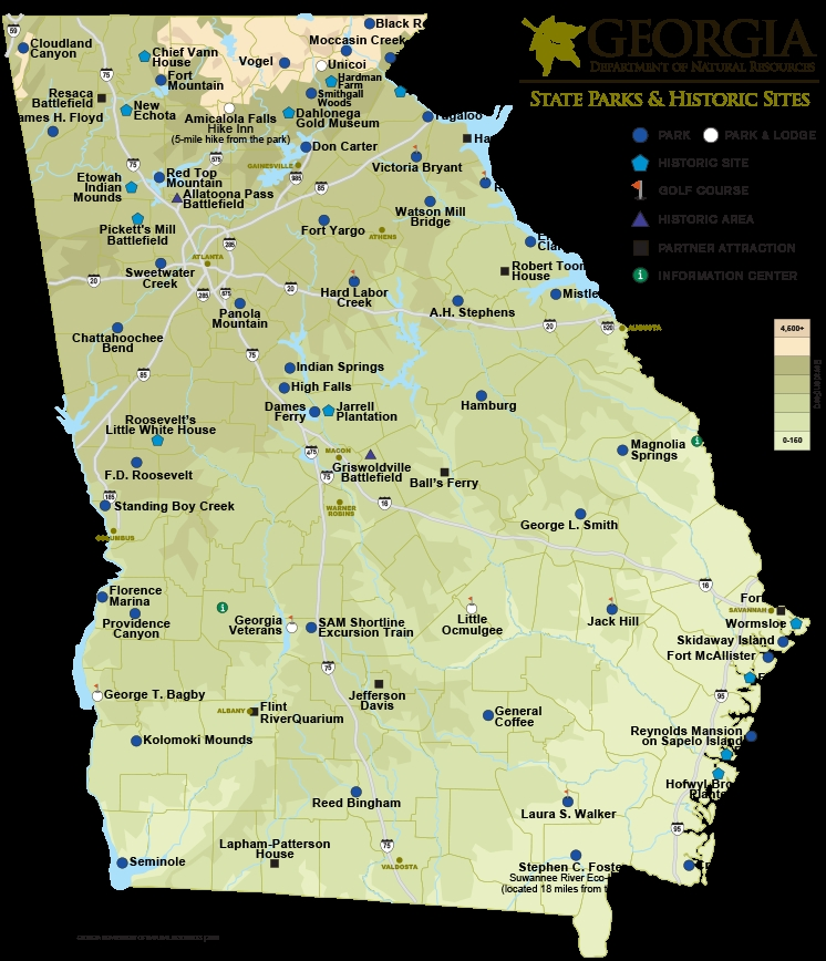 Trend georgia state parks historic sites map department of Georgia State Parks With Cabins Ideas