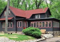 10 log cabins to warm up a chilly night circa old houses Log Cabin Exterior Paint Colors