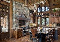 15 warm cozy rustic kitchen designs for your cabin Rustic Cabin Kitchens
