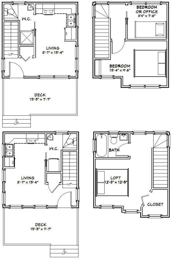 Permalink to 11 16 X 16 Cabin Plans