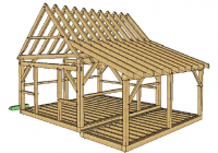 16×20 post and beam cabin with porch porch timber timber Post And Beam Cabin