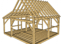16×20 post and beam cabin with porch timber frame hq Post And Beam Cabin