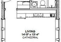 16×30 tiny house 16x30h13 480 sq ft excellent floor 16×30 Small Cabin Plans