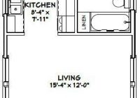 16×30 tiny house 16x30h1i 480 sq ft excellent floor 16×30 Small Cabin Plans