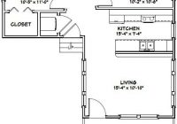 16×30 tiny house 16x30h4f 705 sq ft excellent floor 16×30 Small Cabin Plans