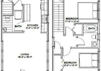 16×30 tiny house 2 bedroom pdf floor plan 873 sq ft 16×30 Small Cabin Plans