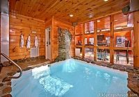 2 bedroom cabin with private indoor pool and sauna Gatlinburg Cabins With Pool