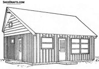 2224 cabin loft building plans blueprints to construct Cabin Building Plans