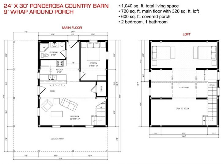 Permalink to Elegant 24 X 30 Cabin Plans With Loft